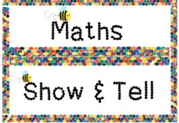 Colourful Classroom flashcards- show and tell and maths