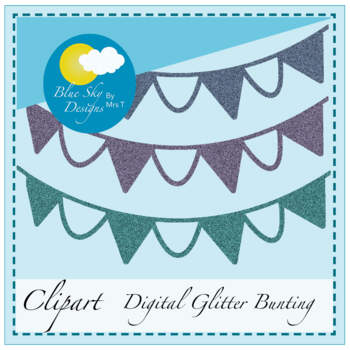 Colourful Glitter Bunting Clip Art