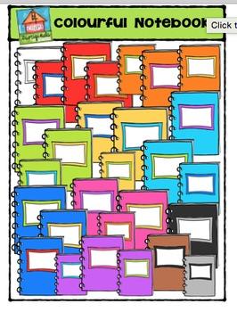 Colourful Notebooks {P4 Clip Triorginals}
