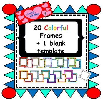 Colourful Triangle Frames