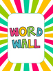 Colourful Word Wall Letters