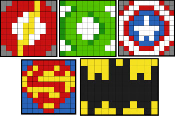 Colouring by Exact Trig Values - Degrees (5 Solo Mosaics,