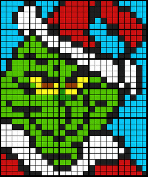 Colouring by Volume and Surface Area, The Grinch (30 Works