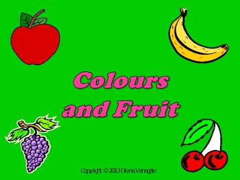 Colours and fruit lesson