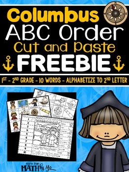 Columbus ABC Order Cut and Paste FREEBIE