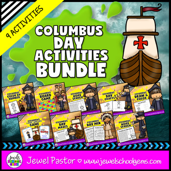 Christopher Columbus Day Activities BUNDLE (Games, Workshe