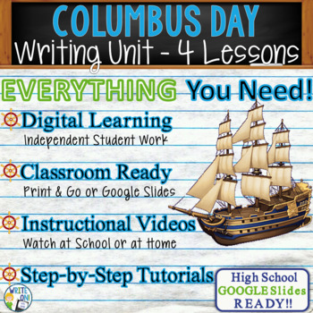 Columbus Day Writing BUNDLE! - Argumentative, Persuasive,