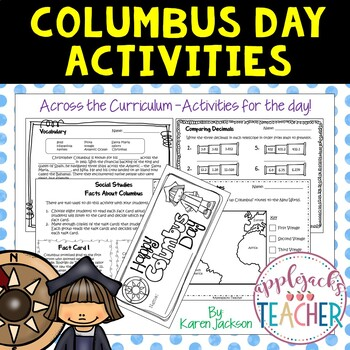 Columbus Day Activities - Across the Curriculum!