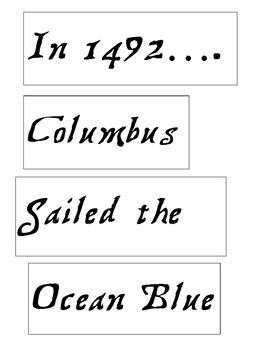 Columbus Day Bulletin Title