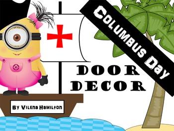 Columbus Day Classroom Door Decor - Minions-