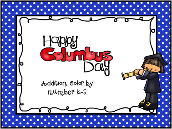 Columbus Day Color By Number