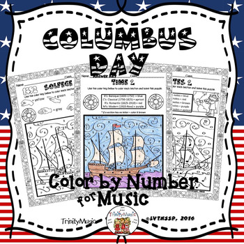Columbus Day Color By Number (Music)