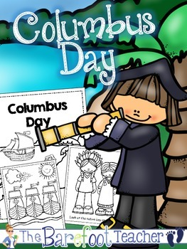 Columbus Day Full-Sized Coloring Book Reader