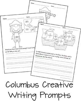 Columbus Day Creative Writing Prompts (Kindergarten & 1st Grade)