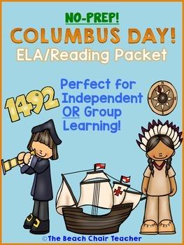 Columbus Day ELA Reading NO PREP Packet
