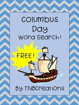 Columbus Day FREE Word Search