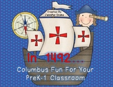 Columbus Day Fun For Kids in PreK-1!  Poem, Printables & C