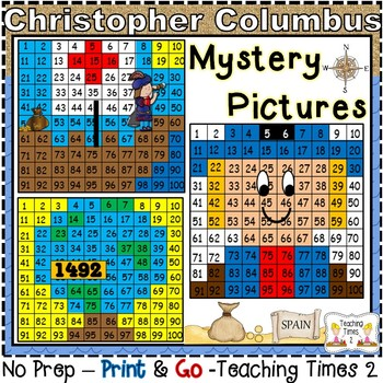 Columbus Day Hundreds Chart Hidden Pictures