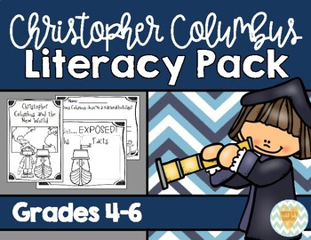 Columbus Day Literacy Pack - Grades 4, 5, 6