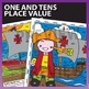 Columbus Day Math Worksheets: Color by Number Place Value