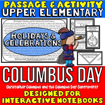 Columbus Day: Reading Passage: Columbus Interactive Notebook