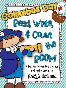 Columbus Day Read, Write, and Count the Room {Literacy and