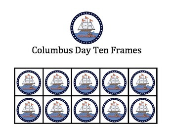 Columbus Day Ten Frames