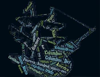 Columbus Day Vocabulary image for Classroom Decoration Pos
