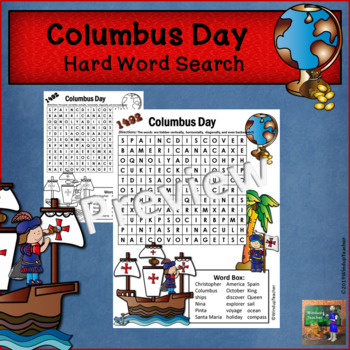 Columbus Day Word Search *Hard
