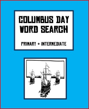Columbus Day Word Searches - Primary & Intermediate