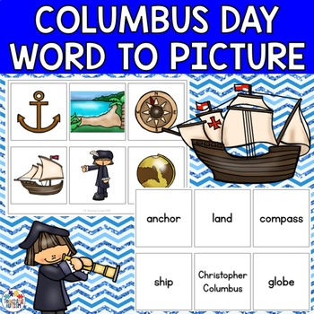 Columbus Day, Word to Picture Matching, Autism
