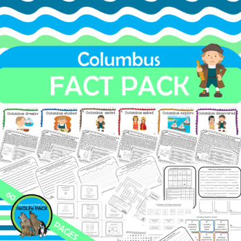 COLUMBUS FACT PACK Posters Reading Text Puzzles Writing Vo