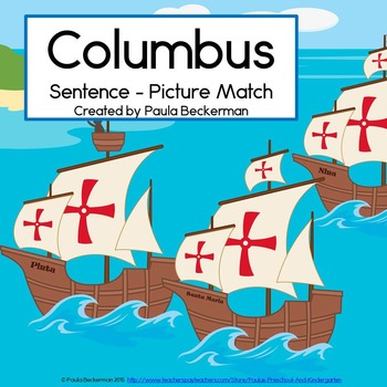 Columbus Sentence Picture Match Reaading Center for October