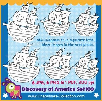 Columbus Ships Caravels Clipart La Niña, Pinta, Santa Mari