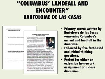 """""""Columbus' Landfall and Encounter"""" - Bartolome de las Casa"""