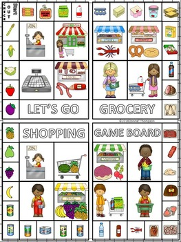 Money Activities: Column Addition Game (Grocery Shopping)