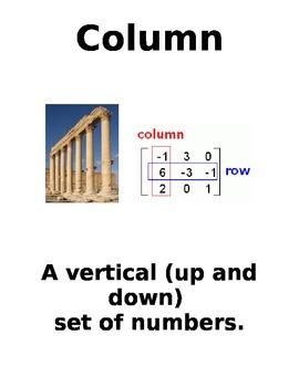 Column Vocabulary Page