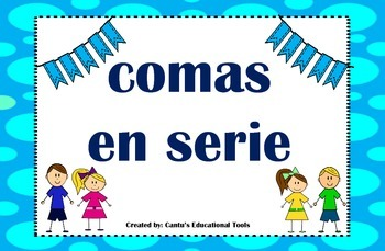 Comas en una serie - Commas in a serie - Spanish - Task Cards