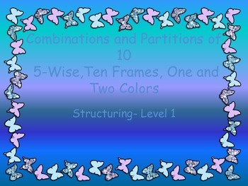 Combinations and Partitions of 10 using the Ten Frame with