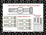 Combinations of 5 Using a Five Frame, Watch Template, and