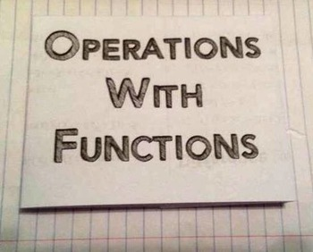 Combine Functions Operations Foldable Graphic Organizer In