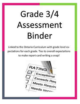 Combined Grade 3/4 Gradebook