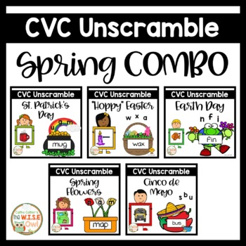 Small Group Interventions Set: Spring CVC Cards BUNDLE