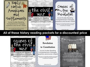 Combined US History Reading Comprehension Units