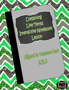 Combining Like Terms Interactive Lesson {6.EE.3}