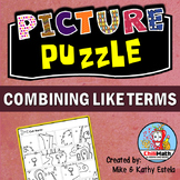 Combining Like Terms Picture Puzzle