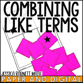 Combining Like Terms Puzzle Activity