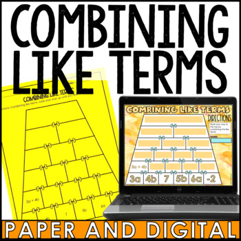 Combining Like Terms Pyramid
