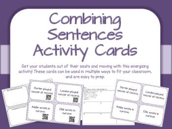 Combining Sentences Activity Cards