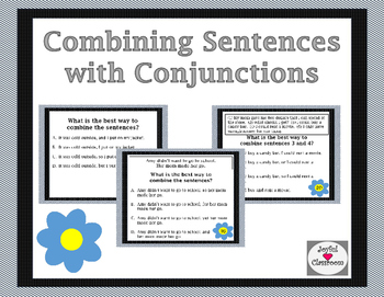 Combining Sentences with Conjunctions (FANBOYS) Task Cards